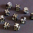 12mm Marble Spot Dice - Black